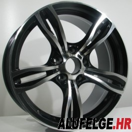 4Racing B001 18x9 black polished