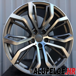 R Line B5040 anthracite polished 22x11 5x120 ET35 74,1
