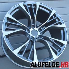 R Line BBK851 anthracite polished 22x11 5x120 ET33 74,1