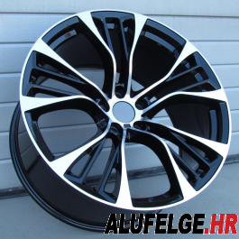 R Line BBK851 black polished 22x10 5x120 ET40 74,1