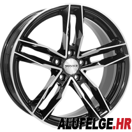 Monaco RR8M 18x8 black polished