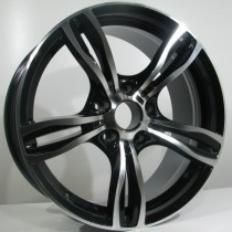 4Racing B001 18x8 black polished