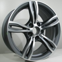 4Racing B001 17x8 antracit polished