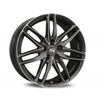 MSW 19x9 matt gun metal full polished