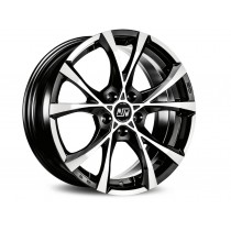 MSW Cross over 18x8 black full polished