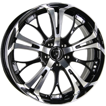 Inter Action poison 18x7,5 shiny black polished front