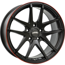 Inter Action red hot 18x8,5 matt black red line