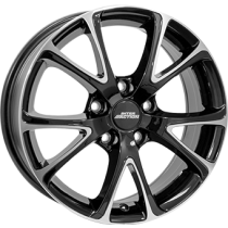 Inter Action pulsar 18x8 shiny black polished front