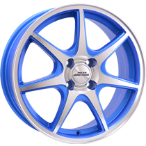 Inter Action ice 15x6 matt blue polished front