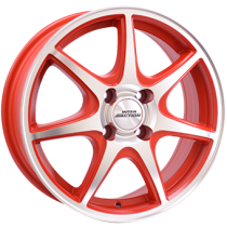 Inter Action ice 15x6 matt red polished front