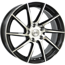 Inter Action RV10 18x8 black polished