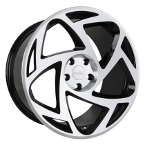 RADI8 R8S5 19x8,5 Black Polished