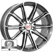 Mille Miglia 1005 22x10 shiny dark anthracite polished front