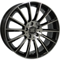 Mile Miglia black polished front 18x8
