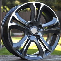 R Line A5108 black polished 15x6 4x108 ET25 65.1