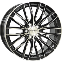 Monaco GP2 black polished 18x8