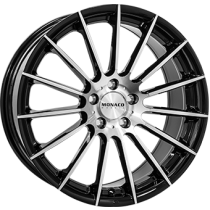 Monaco formula black polished 18x8