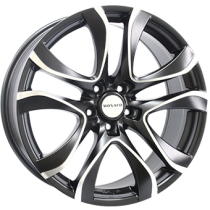 Monaco Beau Rivage 19x8,5 matt black polished front