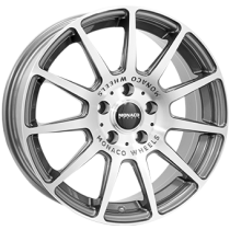 Monaco Rallye 17x7 shiny anthracite polished front