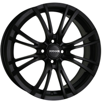 Monaco Hairpin 17x7 matt black 4 holes