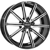 Monaco Finish 18x8 black polished front
