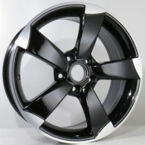 4Racing A006 rotor style 8x18 black polished