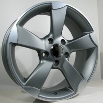 4Racing A006 rotor style 8x18 antracite polished