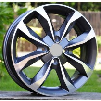 R Line A415 grey polished 15x5,5 4x100 ET45 60,1