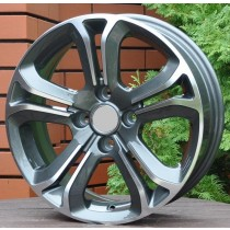 R Line PEA5108 anthracite polished 15x6 4x108 ET25 65,1