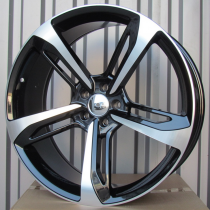 R Line AA513 black polished 22x9 5x112 ET30 66,45