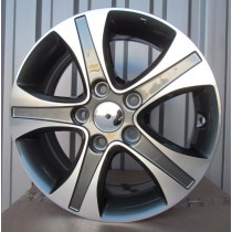 R Line HYA5522 grey polished 15x6 5x114,3 ET45 67,1