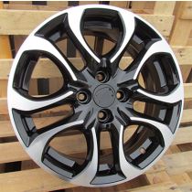 R Line A5376 anthracite polished 16x6 4x100 ET40 54.1