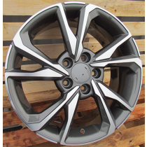 R Line A5563 grey polished 17x7 5x114.3 ET45 64.1
