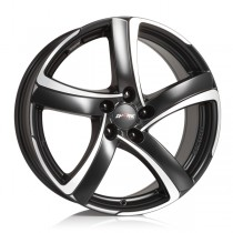 Alutec Shark 18x8 black front polished