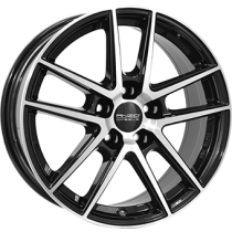 Anzio Split 5 spoke 16x6,5 black polished