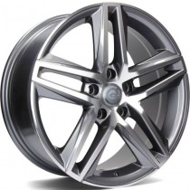 Carbonado Stormy 17x7,5 5x112 ET42 57,1 anthracite polished