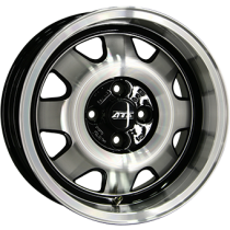 ATS Cup 15x7 black polished