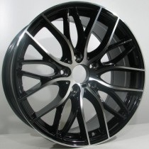 "R Line B010 black polished 19"" 5x120"