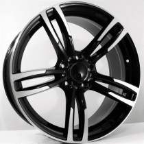 4Racing B019 17x8 5x120 ET35 72,6 black polished x8