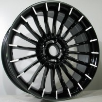 4Racing B022 20x8,5 black polished