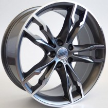 "4Racing B030 grey polished 19"" 5x120"