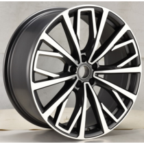 R Line BY1453 black polished 18x8 5x112 ET39 66.45
