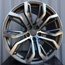 R Line B5040 anthracite polished 22x10 5x120 ET40 74,1