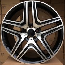 R Line MBK206 black polished 22x10 5x130 ET48 84,1