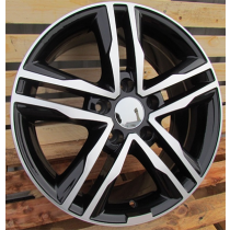 R Line BK424 black polished 17x7.5 5x114.3 ET42 66.1