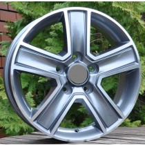 R Line OPBK473 grey polished 16x6,5 5x114,3 ET50 66,1