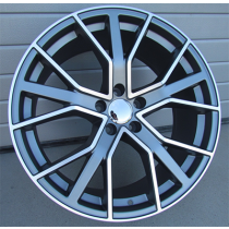 R Line BK5131 anthracite polished 21x9.5 5x112 ET31 66.45