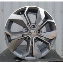 R Line RBK5168 grey polished 17x7 5x114,3 ET45 66,1