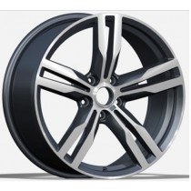 R Line BK5327 grey polished 20X8.5 5x112 66.6