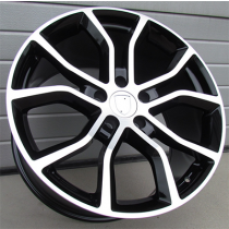 R Line BK5362 black polished 21x9.5 5x130 ET46 71.6